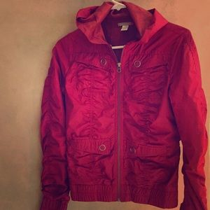Red wind breaker